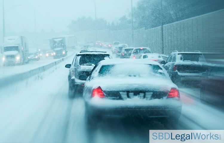 winter storm traffic on interstate